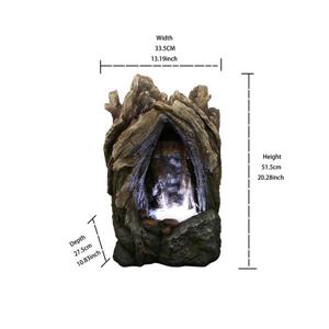 Hi-Line Gift Tree Trunk Waterfall Fountain - LED Light