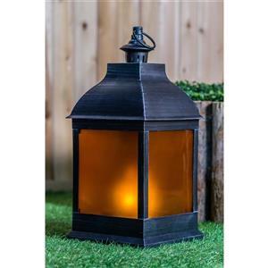 "Hi-Line Gift Outdoor Lantern - LED Light - silver - 20"""