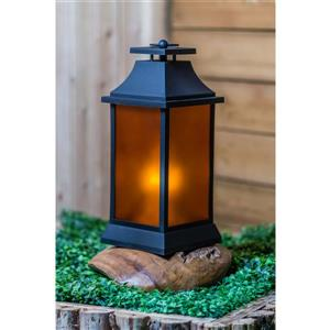 Hi-Line Gift Outdoor Lantern - LED Light - Black - 16""