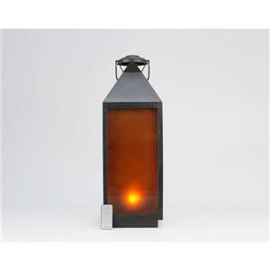 "Hi-Line Gift Outdoor Lantern - LED Light - Black - 24"""
