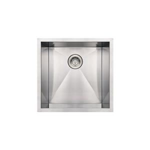 Whitehaus Collection Commercial Undermount Sink -Square Single Bowl - Stainless