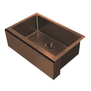 Whitehaus Collection Undermount Front Apron Kitchen Sink - Single Bowl - Copper