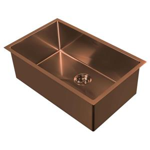 Whitehaus Collection Dual Mount Kitchen Sink Set - Single Bowl - Copper