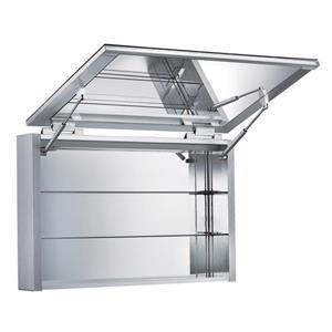 Whitehaus Collection Medicinehaus Vertical Opening Medicine Cabinet - Aluminum