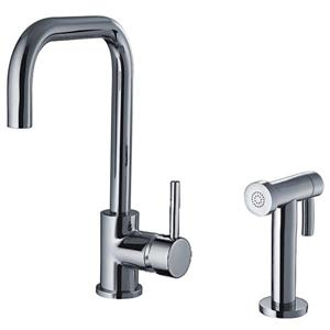 Whitehaus Collection Kitchen Faucet with Side Sprayer - Polished Chrome