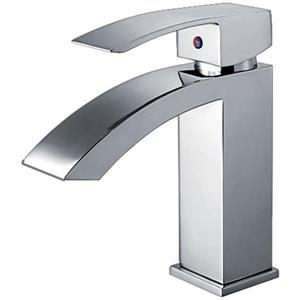 Whitehaus Collection Single Hole Bath Faucet with Pop-Up Drain - Chrome
