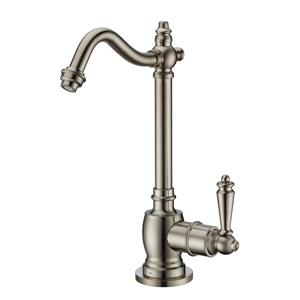 Whitehaus Collection Cold Water Faucet - 1-Handle - Brushed Nickel
