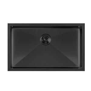Whitehaus Collection Dual Mount Kitchen Sink Set - Single Bowl - Matte Black