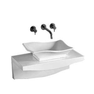 Whitehaus Collection Rectangular Bathroom Sink with Overflow - 30.25-in - White