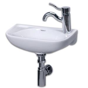 Whitehaus Collection Wall Mount Porcelain Bathroom Sink - 17-in - Withe