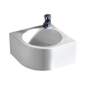Whitehaus Collection Corner Wall Mount Bathroom Sink - 15-in - White