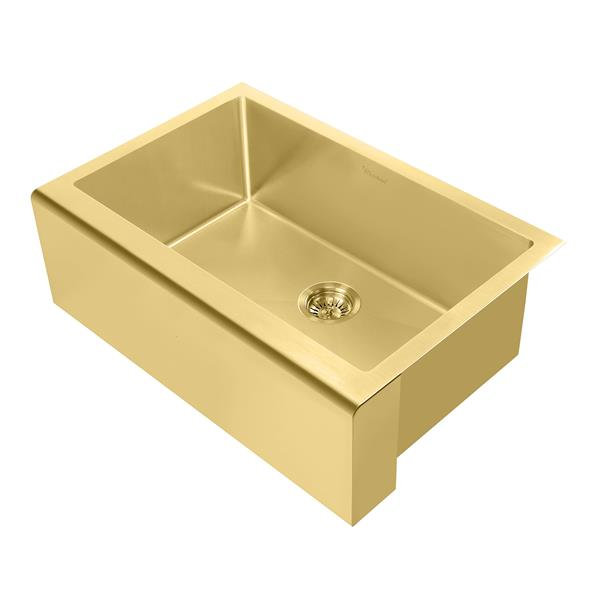 Whitehaus Collection Undermount Front Apron Kitchen Sink Single Bowl Brass Lowe S Canada