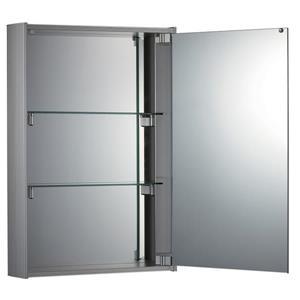 Whitehaus Collection Medicinehaus Single Door Medicine Cabinet - Aluminum