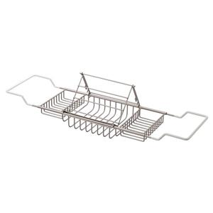 "Cheviot Bathtub Caddy with Reading Rack - 37 1/2"" - Brushed Nickel"