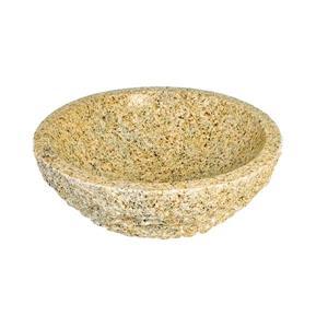 Luxo Marbre Natural Stone Bathroom Sink - 17-in - Brown
