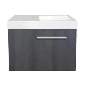 Luxo Marbre MIni Bathroom Vanity - 23.5-in - Charcoal