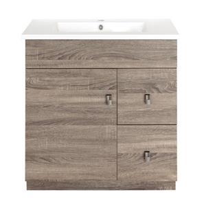 Luxo Marbre Eco Bathroom Vanity - 31-in - Wood Veneer Brown