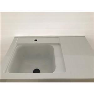Luxo Marbre Tender Bathroom Vanity -  36-in - Lacquered White