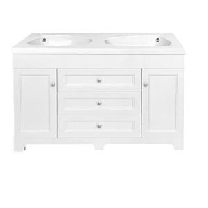 Luxo Marbre Classic Bathroom Vanity - 47.25-in - Lacquered White