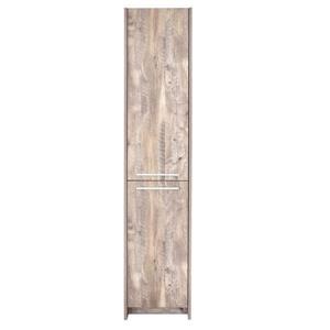 Luxo Marbre 2-Door Side Cabinet - 15.75-in x 74.75-in - Natural Wood