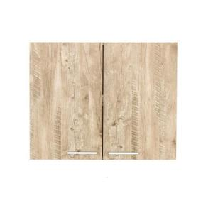Luxo Marbre Washer/Dryer Cabinet - 29.6-in x 23.6-in - Natural Wood