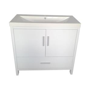 Luxo Marbre Relax Bathroom Vanity - 35.5-in - Lacquered White