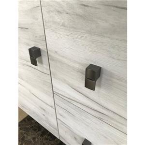 Luxo Marbre Eco Bathroom Vanity - 49-in - Old White Wood Veneer