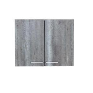Luxo Marbre 2-Door Washer/Dryer Cabinet - 29.6-in x 23.6-in - Blue/Grey