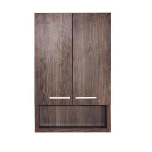 Luxo Marbre 2-Door Bathroom Cabinet - 22-in x 35.5-in - Alamo Oak