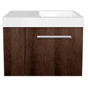 Luxo Marbre MIni Bathroom Vanity - 23.5-in - Coffee
