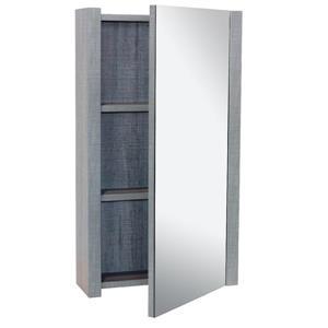 Luxo Marbre Relax Mirror Medicine Cabinet - 17.75-in x 31.5-in - Blue/Grey