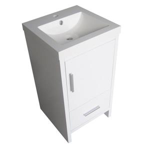 Luxo Marbre Relax Bathroom Vanity - 18-in - Lacquered White