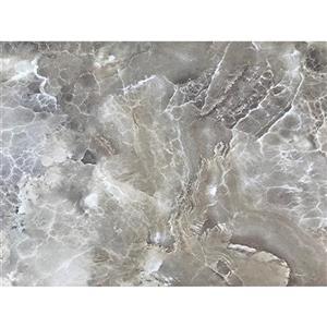 Luxo Marbre Quartz Bathroom Countertop - 25-in x 22-in - Brown