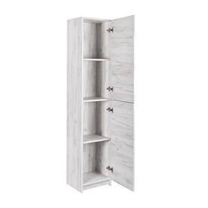 Luxo Marbre Bathroom Side Cabinet - 15.75-in x 74.75-in - Old White Wood