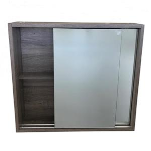 Luxo Marbre Eco Mirror Medicine Cabinet - 28-in x 25.25-in  - Brown