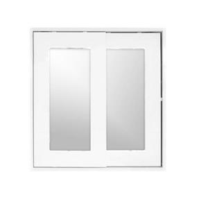 Luxo Marbre Relax Mirror Medicine Cabinet - 24-in x 25.25-in - White