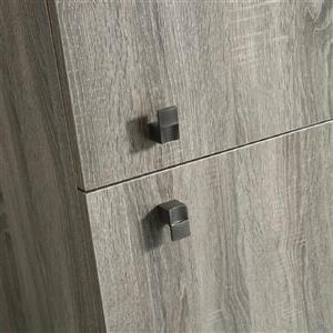 Luxo Marbre 2-Door Side Cabinet - 16-in x 74.75-in - Brown Veneer