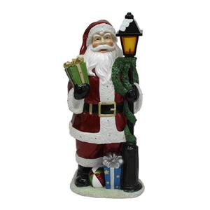 Hi-Line Gift Santa Claus Lamp Post with 22 LED Lights