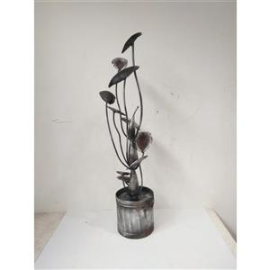 Hi-Line Gift Metal Calla Lilies and Bucket Fountain - Multicoloured