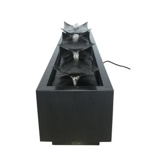 Hi-Line Gift Multi-Level Metal Plates Outdoor Fountain - Multicoloured