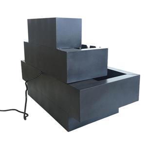 Hi-Line Gift Multi-Level Rectangular Metal Fountain - Multicoloured