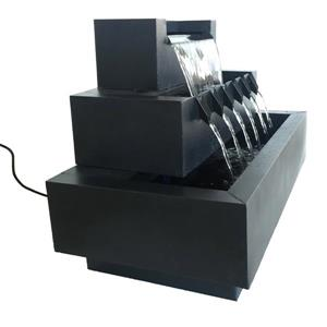 Hi-Line Gift Multi-Level Rectangular Metal Fountain - Multicoloured
