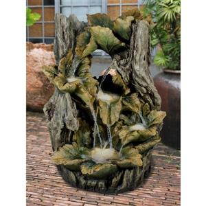 Hi-Line Gift Outdoor Tree Fountain with LED Lights - Multicoloured