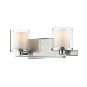 Z-Lite Schema 2-Light Vanity Light - Nickel