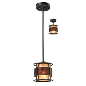 Z-Lite Oak Park 1-Light Mini Pendant Light - Bronze