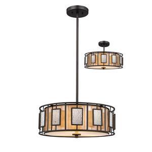 Z-Lite Lankin 3-Light Pendant Light - Bronze
