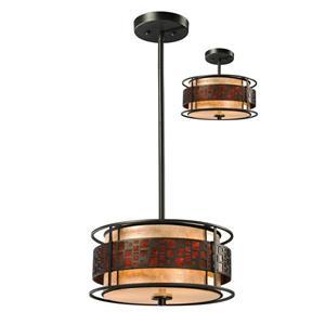Z-Lite Oak Park 3-Light Pendant Light - Bronze