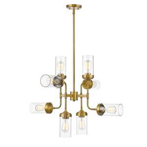Z-Lite Calliope 8-Light Pendant Light - Brass