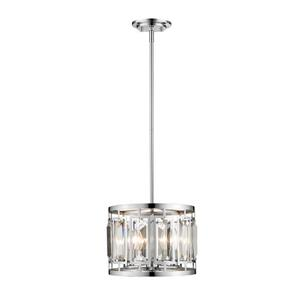 Z-Lite Mersesse 3-Light Pendant Light - Chrome