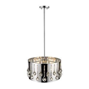 Z-Lite Oberon 4-Light Pendant Light - Chrome